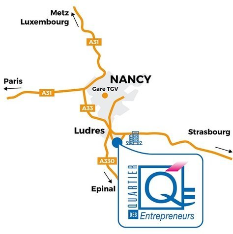 Le centre d'affaires à Nancy - Ludres: Meurthe et Moselle