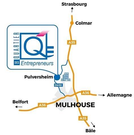 Le centre d'affaires à Pulversheim: Haut-Rhin